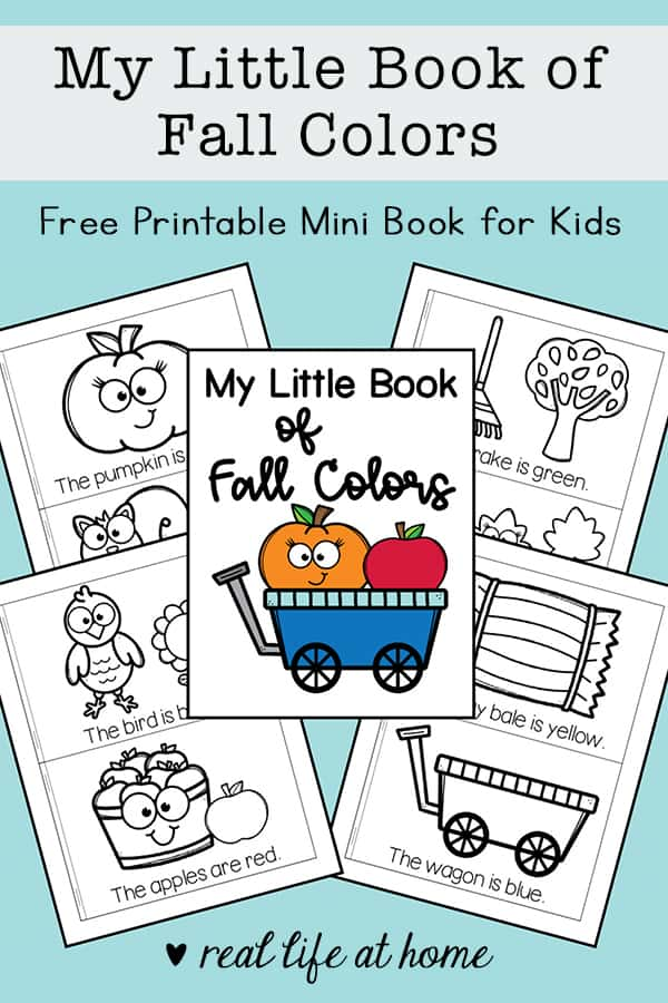 - My Little Book Of Fall Colors Mini Book Free Printable For Kids