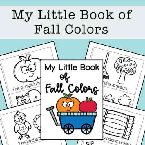 My Little Book of Fall Colors Free Printable