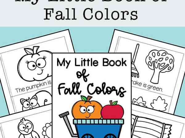 My Little Book of Fall Colors Mini Book Free Printable for Kids