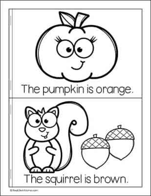 Page from My Fall Colors Book (free printable)
