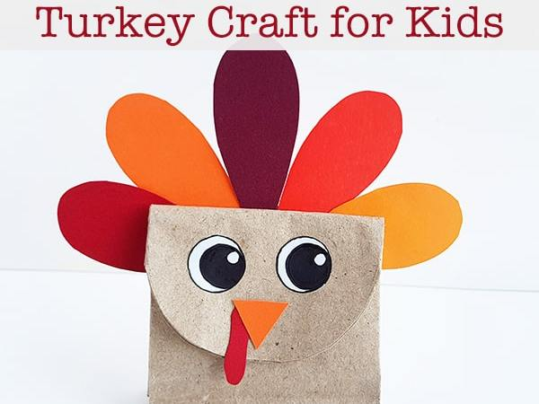 Easy and Inexpensive Paper Bag Turkey Craft for Kids