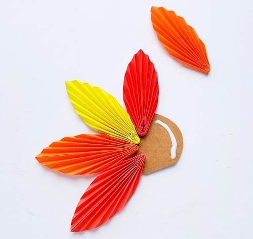 Step 10 of Folded Paper Turkey Craft from Real Life at Home