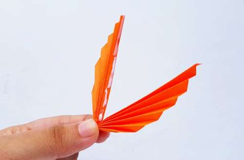 Step 4 of Folded Paper Turkey Craft from Real Life at Home