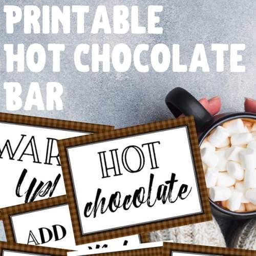 Free Printable Hot Cocoa Bar Signs Set