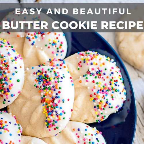 Easy and Beautiful Butter Cookie Recipe from Real Life at Home