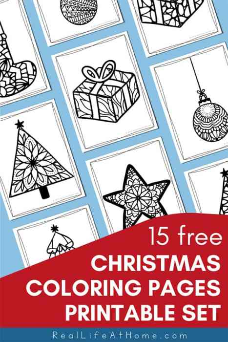 15 Free Christmas Coloring Pages from Real Life at Home
