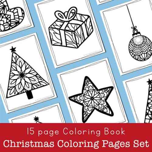 15 page Christmas Coloring Sheets Set from Real Life at Home