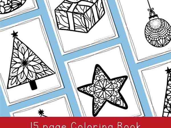 Free Christmas Coloring Pages for Kids and Adults (15 pages)