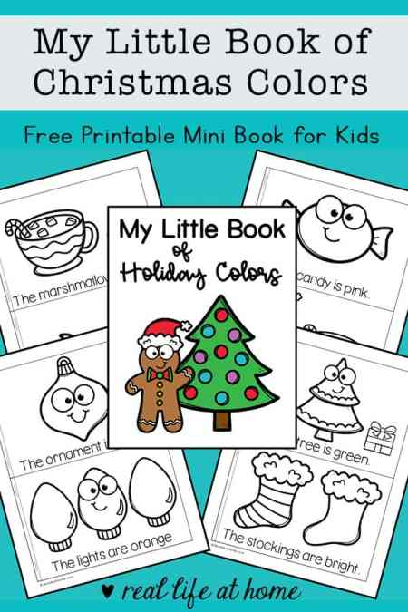My Little Book of Christmas Colors Mini Book Printable for Preschool - 1st Grade