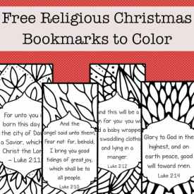 Color Your Own Religious Christmas Bookmarks (Free Printable)