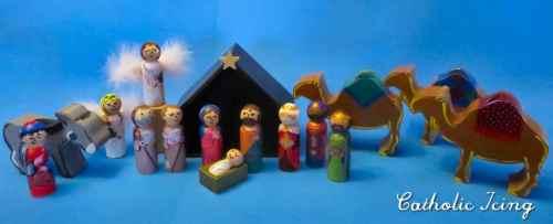Printable Nativity Peg Doll Set