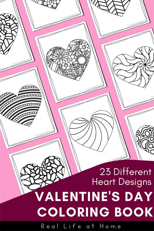 - Valentine Coloring Pages For Kids And Adults (23 Heart Coloring Pages)