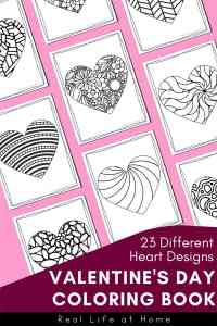 23 Different Heart Designs: Valentine Coloring Book for Kids and Adults from Real Life at Home