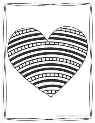 Free Valentine Coloring Page for Kids and Adults from Real Life at Home