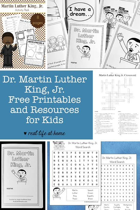 Dr. Martin Luther King Jr. Printables, Worksheets And Resources For  Children HomeSchool - Amazing Reveal