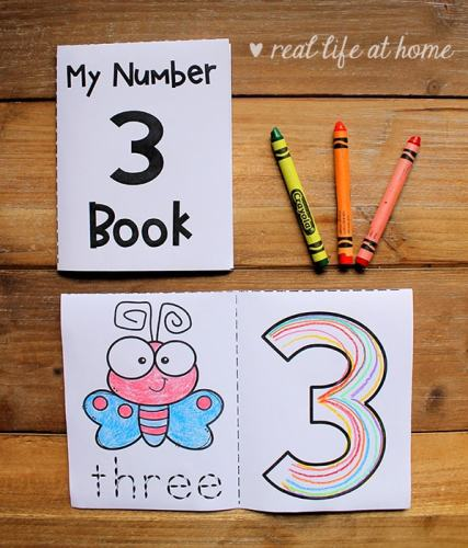 Free Set of 10 My Numbers Mini Books for Preschool and Kindergarten