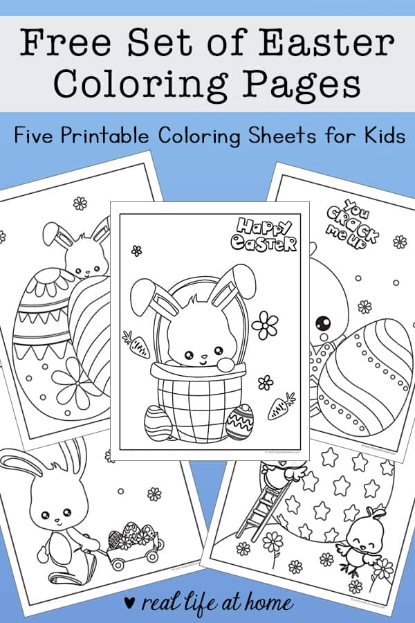- Free Easter Coloring Pages Printable Set With Bunnies, Chicks, And Eggs