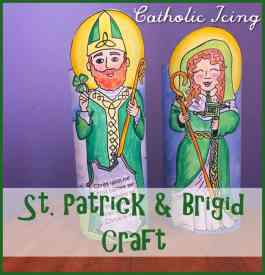 Saint Patrick and Saint Brigid Craft for Kids