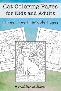 Cat Coloring Pages for Kids and Adults (free printables)