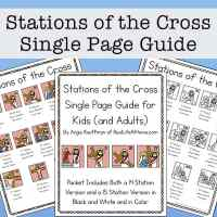 Illustrated Stations of the Cross List for Kids (and Adults)