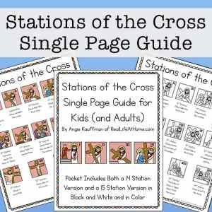 Illustrated Stations of the Cross List (fits on one page)