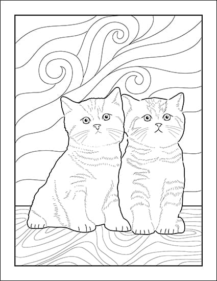 It is an image of Cat Printable in pattern