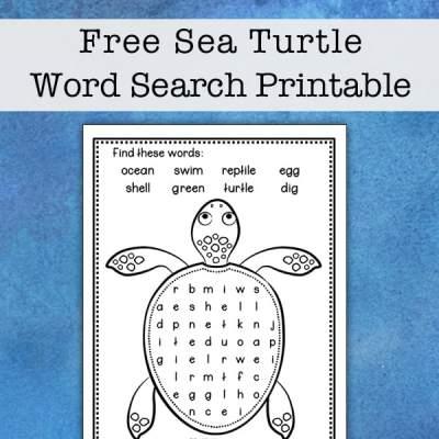 Sea Turtle Word Search Printable