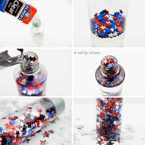 Patriotic Sensory Bottle Project for Kids