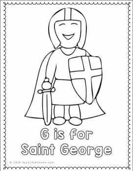 Saint George Coloring Page