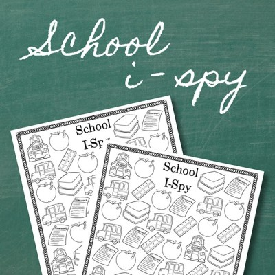 Back to School I Spy Printable Activity