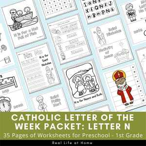 Letter N - Catholic Letter of the Week Packet