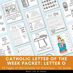 Letter O - Catholic Letter of the Week Packet