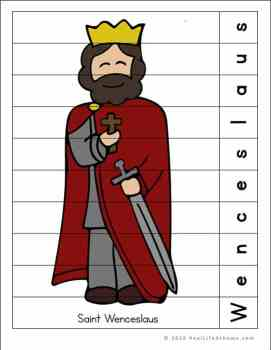 Saint Wenceslaus Puzzle Page Printable