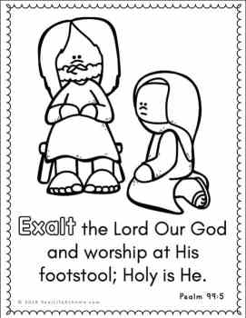 Psalm 99 coloring page
