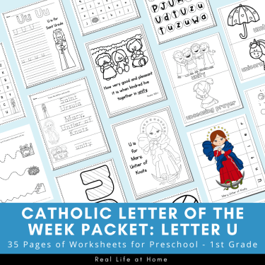 Catholic Letter of the Week Packet - Letter U