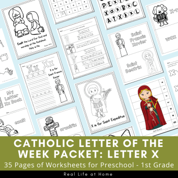 Letter X - Catholic Letter of the Week Packet