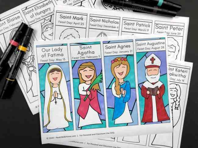 Catholic Saints Bookmark Set
