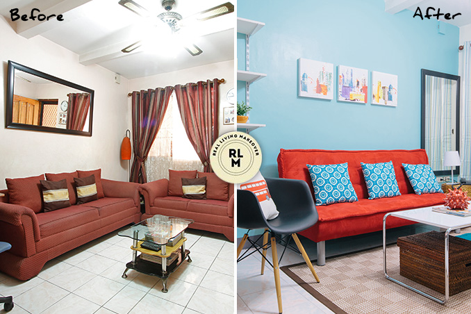 Rl Makeovers A Colorful Look For Plain Living Room Part 60