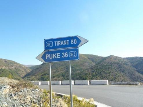Road to Tirane, Albania