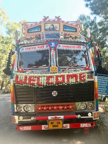 The happiest truck in Himachal Pradesh; can you see the smile?