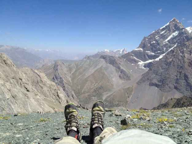 hiking in the fann mountains