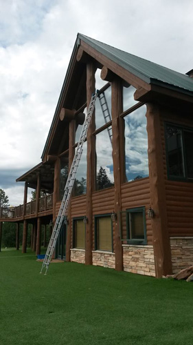 Cleaning tall windows