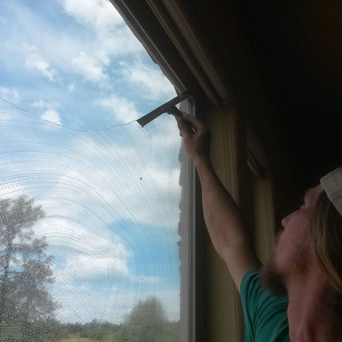 Using a squeegee