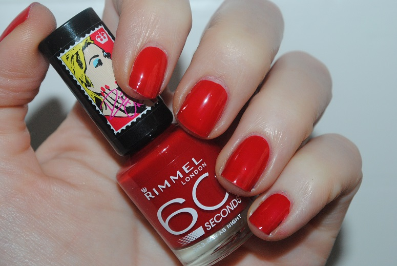 Rita Ora For Rimmel 60 Seconds Nail Polish Raw As Night 303 Swatch