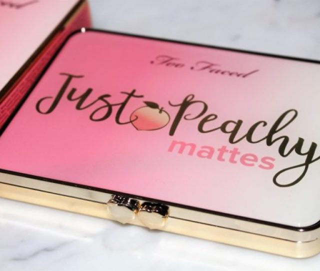 Too Faced Just Peachy Mattes Eyeshadow Palette Peaches Cream Collection