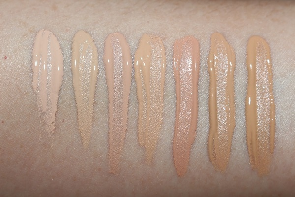 Ciate Extraordinary Foundation Swatches - Light shades