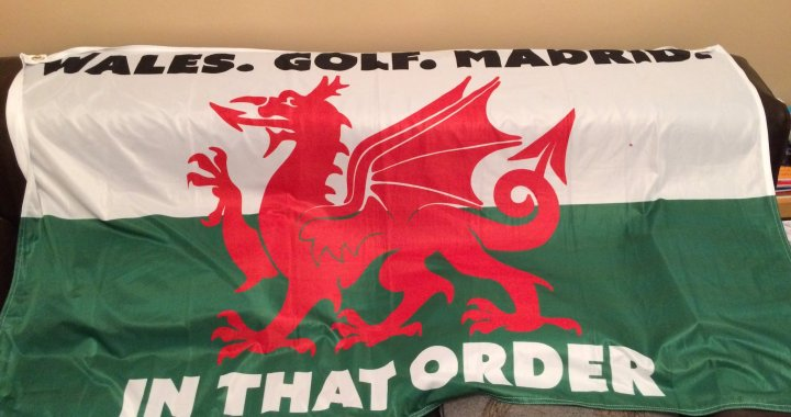 Wales. Golf. Madrid. In that order! Really?