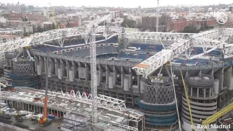 Status of Santiago Bernabéu Stadium renovation work | Real ...