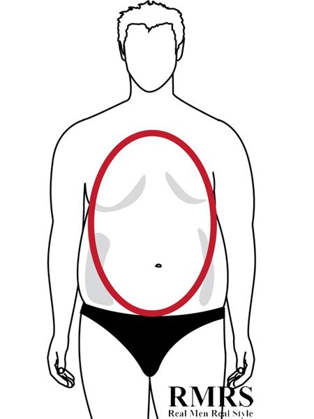 Oval Or 'Apple' Male Body Shape