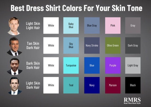 best shirt coor for skin tone